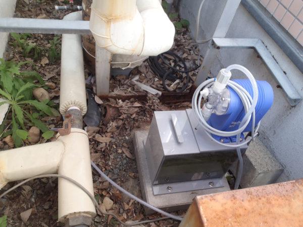 井戸水用滅菌装置を設置(井戸水の消毒)