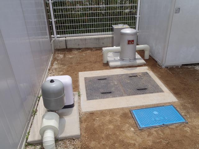 雑用水用に滅菌装置を設置(井戸水の消毒)