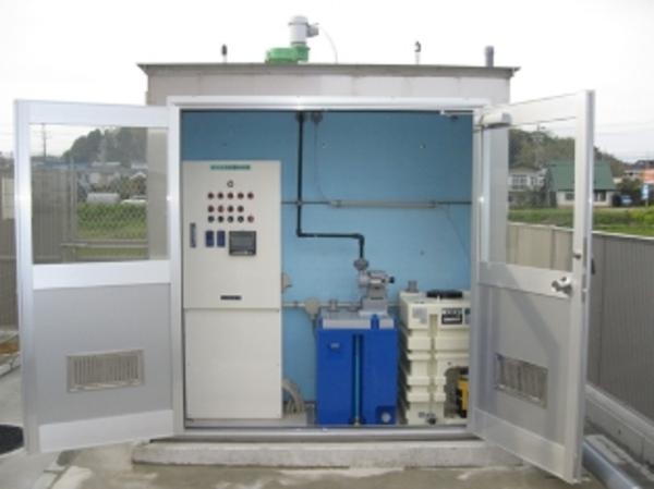 病院排水のpH中和装置を設置(排水 pH中和処理)
