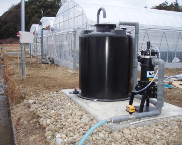 農業経営者さま向けに農業用水ろ過装置を納入
